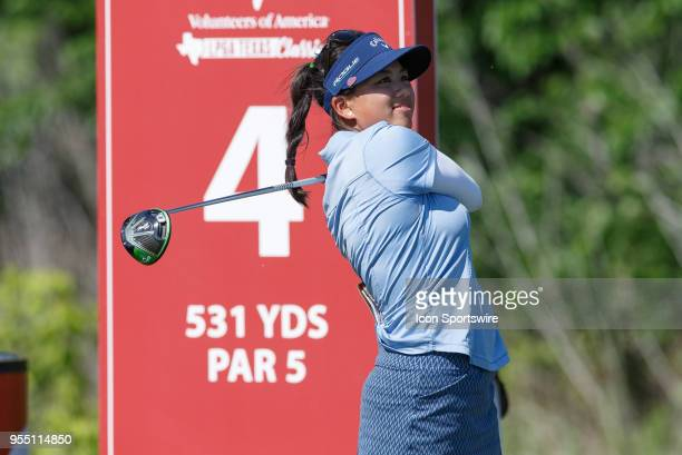 Brianna Do hits her tee shot on during the LPGA Volunteers of America Texas Classic on May 5 2018 at the Old American Golf Club in The Colony TX