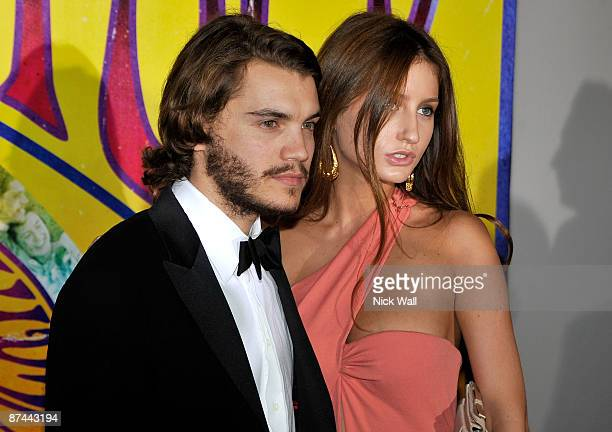 Brianna Domont and Emile Hirsch attend the Taking Woodstock after party at the Majestic Beach during the 62nd Annual Cannes Film Festival on May 16...