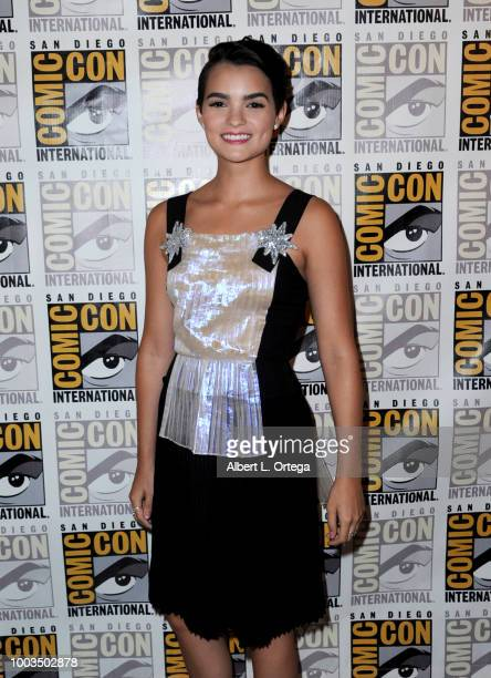 Brianna Hildebrand attends the Deadpool 2 panel during ComicCon International 2018 at San Diego Convention Center on July 21 2018 in San Diego...