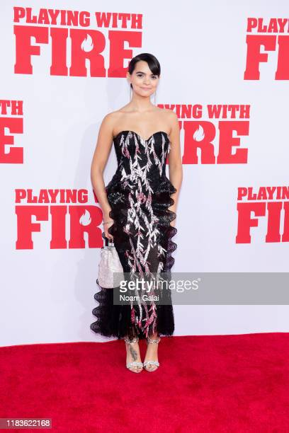 Brianna Hildebrand attends the Playing With Fire New York premiere at AMC Lincoln Square Theater on October 26 2019 in New York City