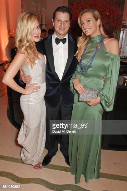 Brianna Leigh Alejandro Grimaldi and Petra Nemcova attend the BOVET 1822 Brilliant is Beautiful Gala benefitting Artists for Peace and Justice's...
