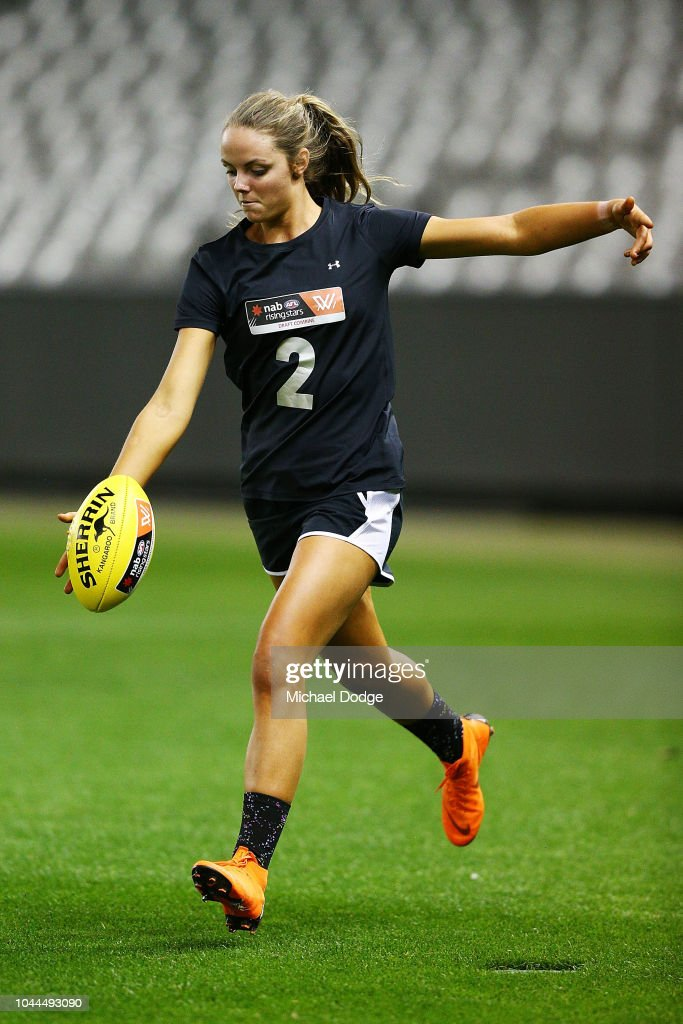 AFL Women's Draft Combine - Evening Session : News Photo