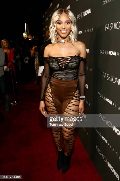Brianna Perry attends the Fashion Nova x Cardi B Collaboration Launch Event at Boulevard3 on November 14 2018 in Hollywood California