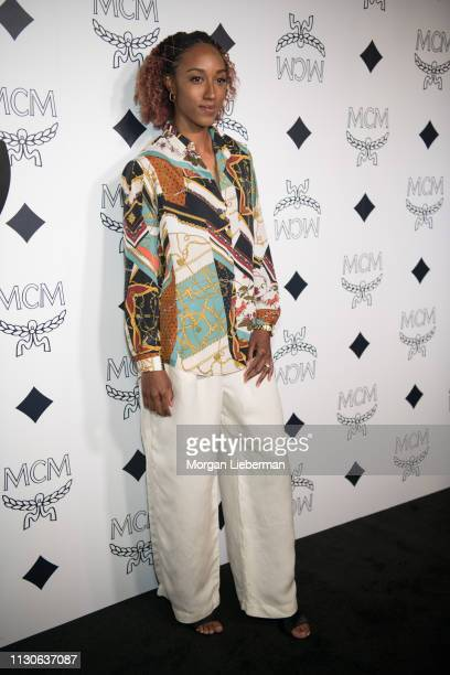 Brianna Rollins McNeal arrives at the MCM Global Flagship Store Grand Opening On Rodeo Drive at the MCM Global Flagship Store on March 14 2019 in...
