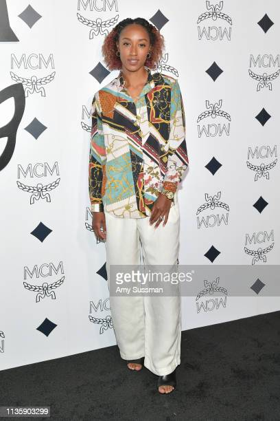 Brianna Rollins McNeal attends MCM Global Flagship Store Grand Opening On Rodeo Drive at MCM Global Flagship Store on March 14 2019 in Beverly Hills...