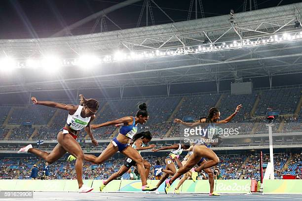 Brianna Rollins of the United States wins the gold medal in the Women's 100m Hurdles Final on Day 12 of the Rio 2016 Olympic Games at the Olympic...