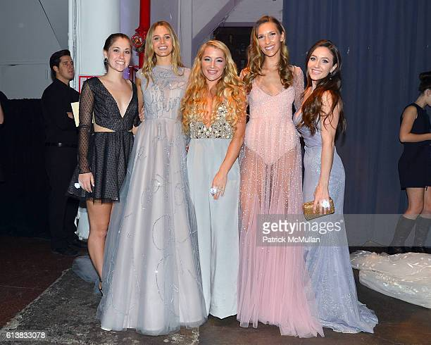 Brianna Sherlock Marloes Stevens Hayley Paige Candice Zagorski and Jackie Seabrooke attend Martha Stewart Weddings Bridal Fashion Week Party at...