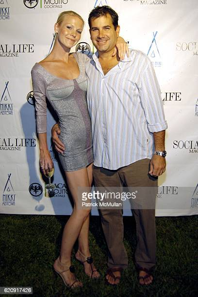 Brianna Swanson and Charles Regensburg attend Social Life Magazine Issue Release Party Sponsored by Nikki Beach Midtown at Social Life Estate on...