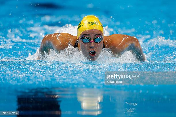Brianna Throssell of Australia competes in the Women's 200m Butterfly heat on Day 4 of the Rio 2016 Olympic Games at the Olympic Aquatics Stadium on...