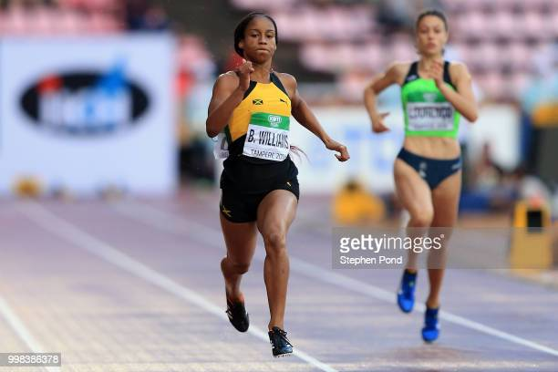 Brianna Williams of Jamaica in action during heat 3 of the women's 200m semi finals on day four of The IAAF World U20 Championships on July 13 2018...