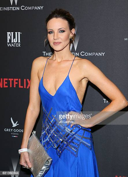 Brianne Davis attends The Weinstein Company and Netflix Golden Globe Party presented with FIJI Water Grey Goose Vodka Lindt Chocolate and Moroccan...