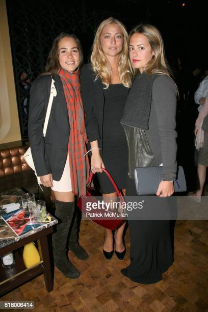 Brianne Goutal Alina Kohlem and Francesca Bodini attend QUEST MAGAZINE What2WearWherecom hosts a soft launch of LAVO at 38 E 58th St on September 9...