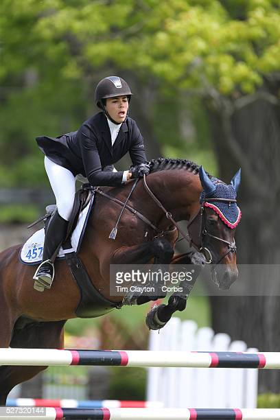 Brianne Goutal riding Orbetello in action during the $35,000 Grand Prix of North Salem presented by Karina Brez Jewelry during the Old Salem Farm...