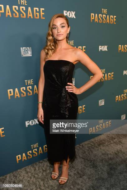 """Brianne Howey attends Fox's """"The Passage: premiere party at The Broad Stage on January 10, 2019 in Santa Monica, California."""