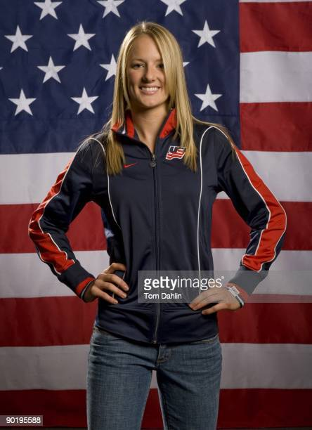 Brianne McLaughlin of the US Women's National Hockey Team poses for a portrait on August 25 2009 at the National Sports Center in Blaine Minnesota
