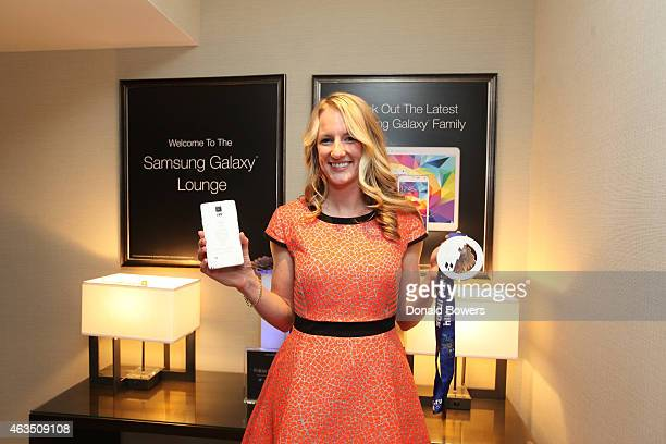 Brianne McLaughlin visits the Samsung Galaxy Lounge during NBA All Star 2015 on February 14 2015 in New York City