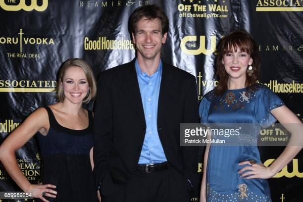 Brianne Moncrief Adam Mayfield and Brittany Allen attend DAYTIME EMMY Nominee Party Hosted by GOOD HOUSEKEEPING at Hearst Building on May 14 2009 in...
