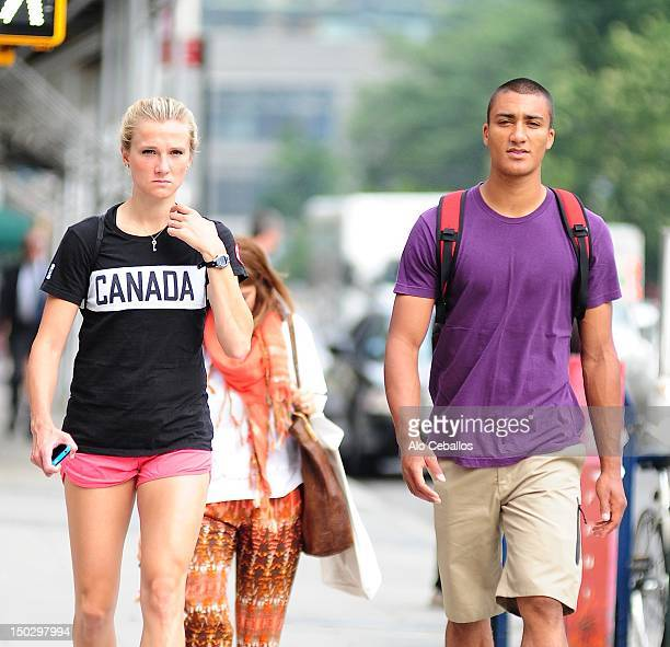 Brianne Theisen and Ashton Eaton are seen on August 14 2012 in New York City