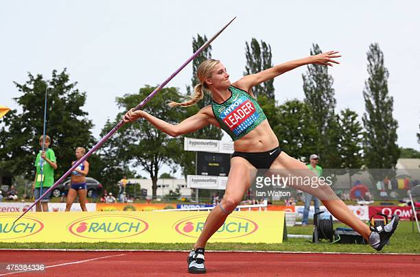 Brianne Theisen Eaton of Canada competes in the Javelin during the women's heptathlon during the Hypomeeting Gotzis 2015 at the Mosle Stadiom on May...