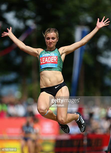 Brianne Theisen Eaton of Canada competes in the long jump during the women's heptathlon during the Hypomeeting Gotzis 2015 at the Mosle Stadiom on...