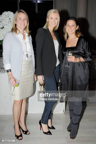 Brianne Walker Kate Davidson Hudson and Helene Keech attend ATELIER SWAROVSKI Spring/Summer 2011 Launch Dinner at SoHi Room on October 12 2010 in New...