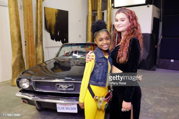 Brianni Walker and Cloe Wilder attend Cloe Wilder's Save Me music video premiere party on October 08 2019 in Los Angeles California