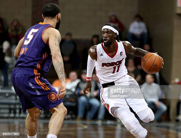 Briante Weber from the Sioux Falls Skyforce brings the ball up court against the Northern Arizona Suns at the Sanford Pentagon December 25 2016 in...