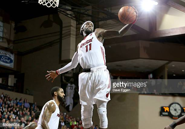Briante Weber from the Sioux Falls Skyforce pulls down a rebound against the Northern Arizona Suns at the Sanford Pentagon December 25 2016 in Sioux...