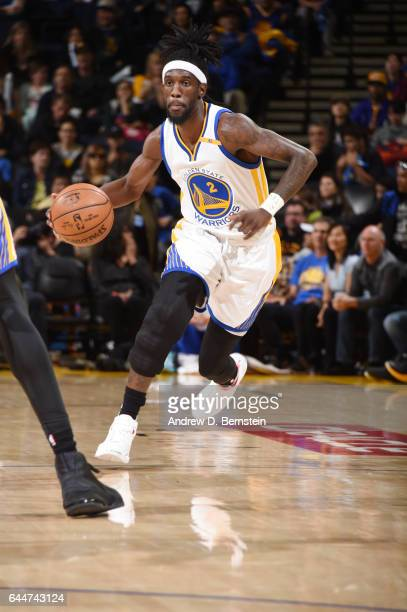 Briante Weber of the Golden State Warriors handles the ball against the LA Clippers during the game on February 23 2017 at ORACLE Arena in Oakland...