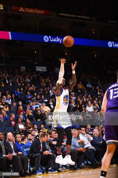Briante Weber of the Golden State Warriors shoots the ball against the Sacramento Kings on February 15 2017 at ORACLE Arena in Oakland California...