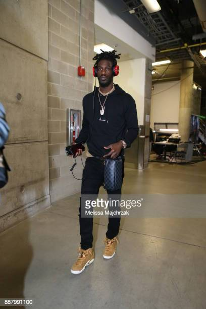 Briante Weber of the Houston Rockets arrives to the arena prior to the game against the Utah Jazz on December 7 2017 at VivintSmartHome Arena in Salt...