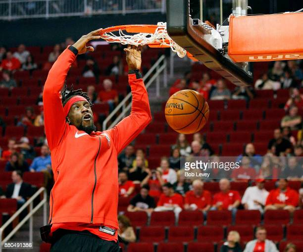 Briante Weber of the Houston Rockets dunks during warm ups at Toyota Center on November 22 2017 in Houston Texas NOTE TO USER User expressly...