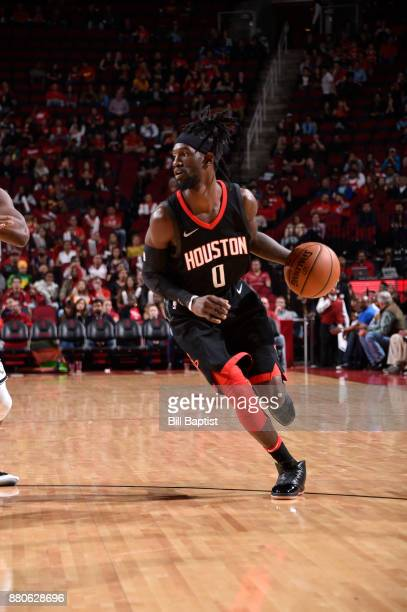 Briante Weber of the Houston Rockets handles the ball against the Brooklyn Nets on November 27 2017 at the Toyota Center in Houston Texas NOTE TO...