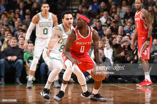 Briante Weber of the Houston Rockets handles the ball against the Boston Celtics on December 28 2017 at the TD Garden in Boston Massachusetts NOTE TO...