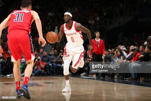 Briante Weber of the Houston Rockets handles the ball against the Washington Wizards on December 29 2017 at Capital One Arena in Washington DC NOTE...