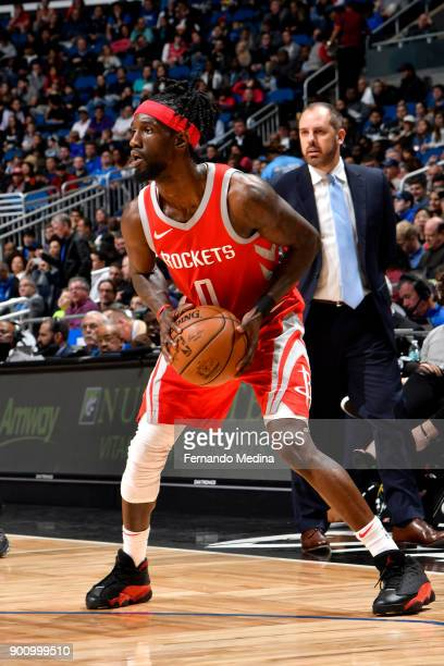 Briante Weber of the Houston Rockets handles the ball against the Orlando Magic on January 3 2018 at the Amway Center in Orlando Florida NOTE TO USER...