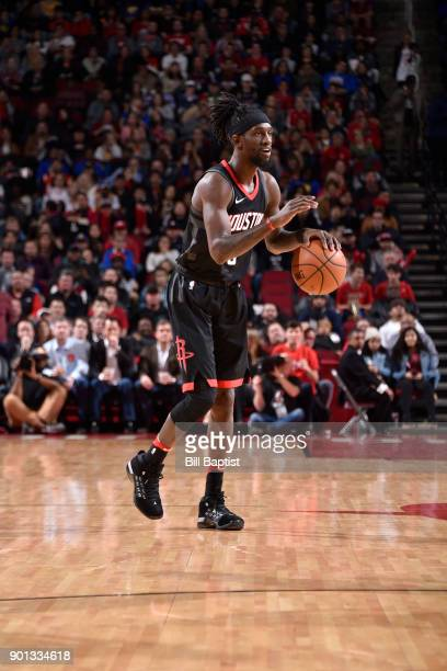 Briante Weber of the Houston Rockets handles the ball against the Golden State Warriors on January 4 2018 at the Toyota Center in Houston Texas NOTE...