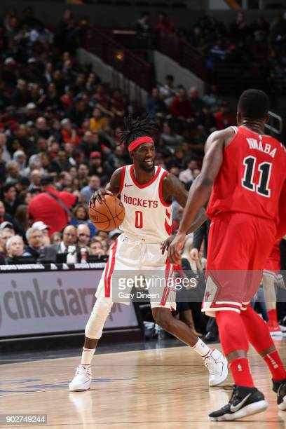 Briante Weber of the Houston Rockets handles the ball against the Chicago Bulls on January 8 2018 at the United Center in Chicago Illinois NOTE TO...
