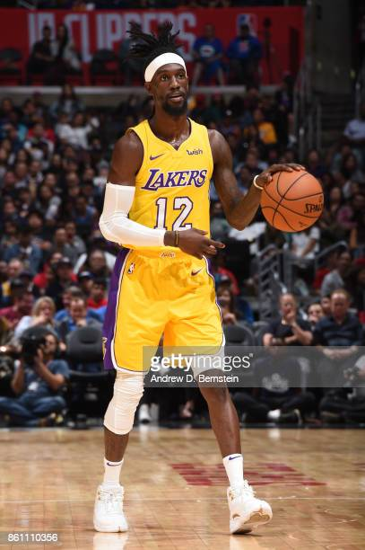 Briante Weber of the Los Angeles Lakers handles the ball against the LA Clippers on October 13 2017 at STAPLES Center in Los Angeles California NOTE...