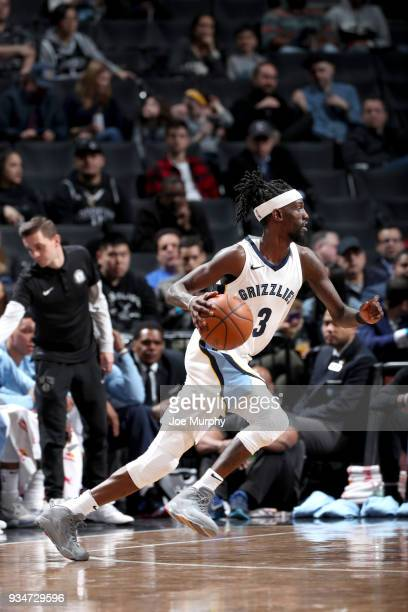 Briante Weber of the Memphis Grizzlies drives to the basket against the Brooklyn Nets on March 19 2018 at Barclays Center in Brooklyn New York NOTE...