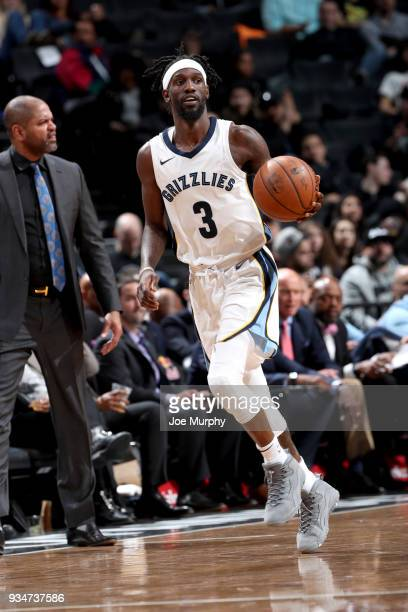 Briante Weber of the Memphis Grizzlies handles the ball against the Brooklyn Nets on March 19 2018 at Barclays Center in Brooklyn New York NOTE TO...