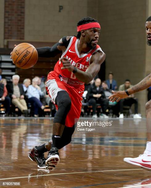 Briante Weber of the Rio Grande Valley Vipers drives with the ball against Erik McCree from the Sioux Falls Skyforce during an NBA GLeague game on...