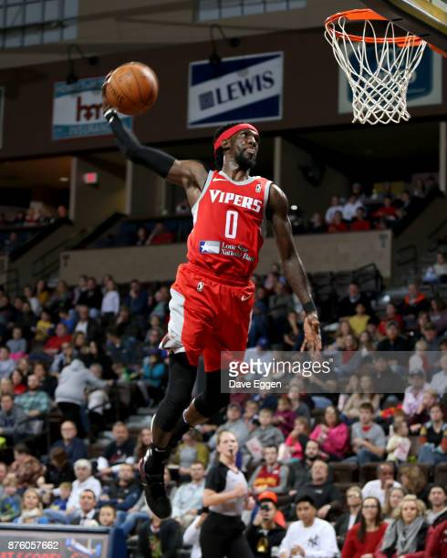 Briante Weber of the Rio Grande Valley Vipers tries to dunk the ball against the Sioux Falls Skyforce during an NBA GLeague game on November 18 2017...