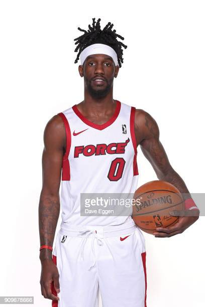 Briante Weber of the Sioux Falls Skyforce poses for a portrait during the Sioux Falls Skyforce media day at the Sanford Pentagon January 23 2017 in...