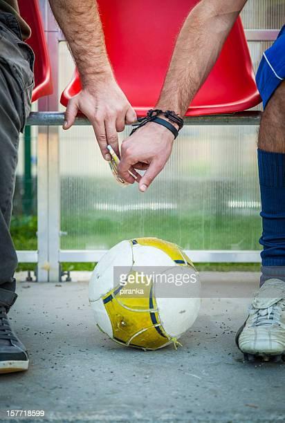 Bribed soccer player