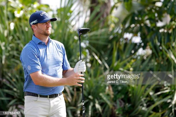 Brice Garnett of the United States plays his shot from the second tee during the first round of The Honda Classic at PGA National Champion course on...