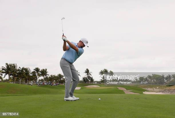 Brice Garnett plays his shot from the second tee during the final round of the Corales Puntacana Resort & Club Championship on March 25, 2018 in...