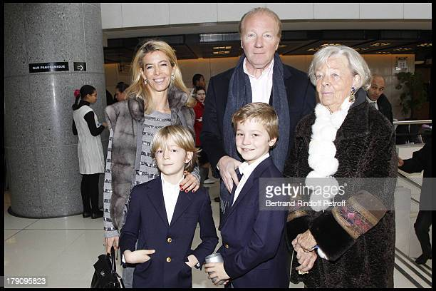 Brice Hortefeux Madame Marie Claude Hortefeux wife Valerie and children Edouard and Amaury at The Reve D'Enfants Matinee Performance Of Swan Lake At...