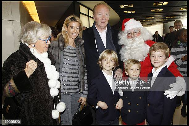 Brice Hortefeux with mother Madame Marie Claude Hortefeux wife Valerie and their children Garcons Edouard Amaury Maxence at The Reve D'Enfants...