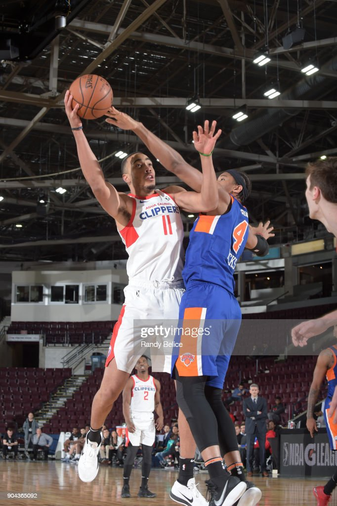 Brice Johnson #11 of the Agua Caliente Clippers shoots the ball against the Westchester Knicks at NBA G League Showcase Game 19 on January 12, 2018 at the Hershey Centre in Mississauga, Ontario Canada.